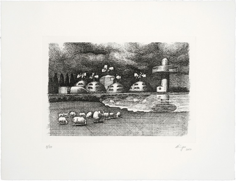 Set of five photoetchings — Susumu Shingu, Breathing Earth, 2010 — <br/>© Jeanne Bucher Jaeger