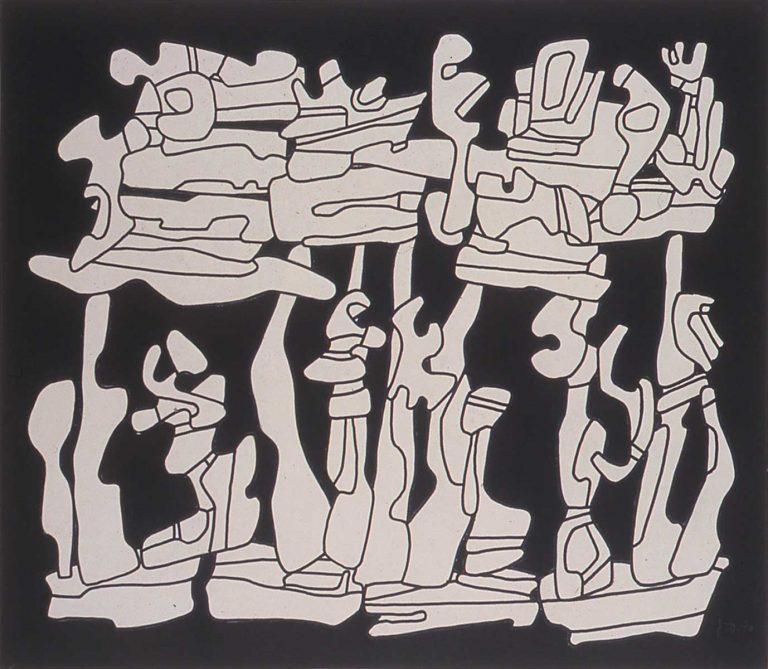 Jean Dubuffet, Arbres portant un château de reminiscences, 1970<br/>© Jeanne Bucher Jaeger