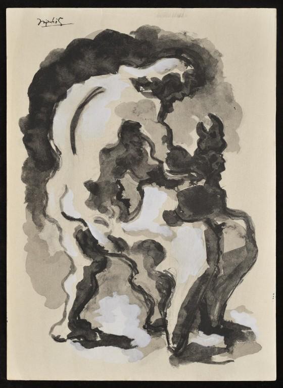 1940 — 12 dessins pour Prométhée — Jacques Lipchitz<br/>© Jeanne Bucher Jaeger