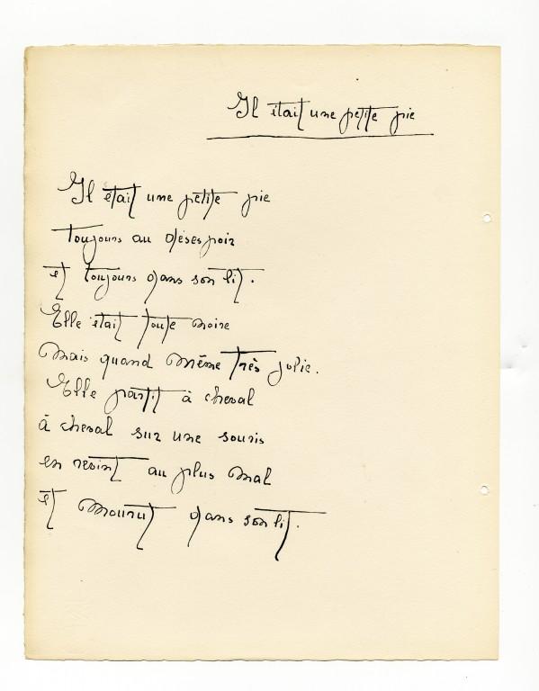 Edition Jeanne Bucher — Lise Hirtz — Joan Miró, Il était une petite pie, 1928 — <br/>© Jeanne Bucher Jaeger
